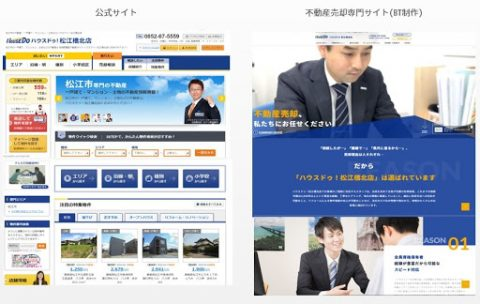 不動産売却500%増加の成功事例_ホームページ別役割